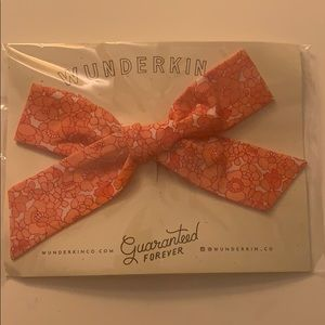 Wunderkin Co. Pink Floral Clip Bow